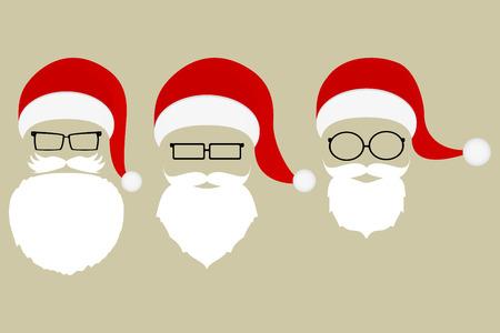 Set of patterns of Santa Claus Ilustração