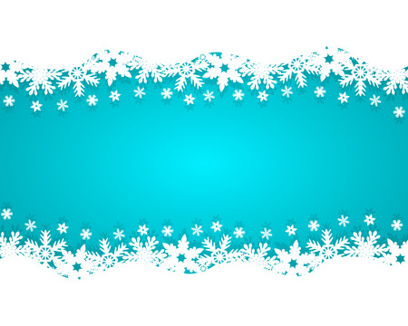 christmas snow: Christmas blue background