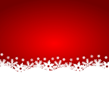 season greetings: Christmas red background Illustration