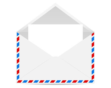 papier a lettre: Ouvrir enveloppe avec des formulaires vierges Illustration