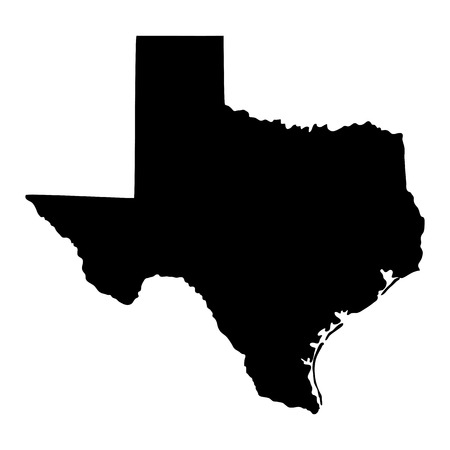 forme: carte de l'état américain du Texas Illustration