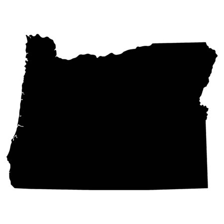 state of oregon: map of the U.S. state of Oregon