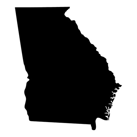 georgia flag: map of the U.S. state of Georgia