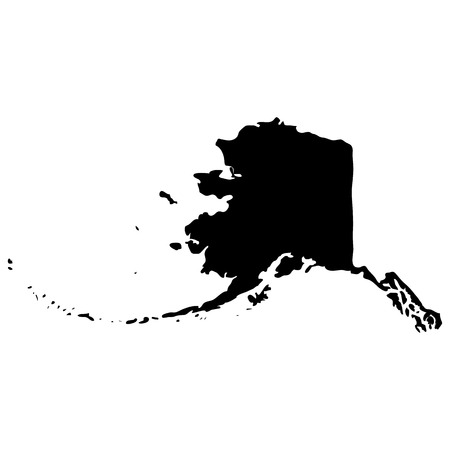 Map of the U.S. state of Alaska Vector