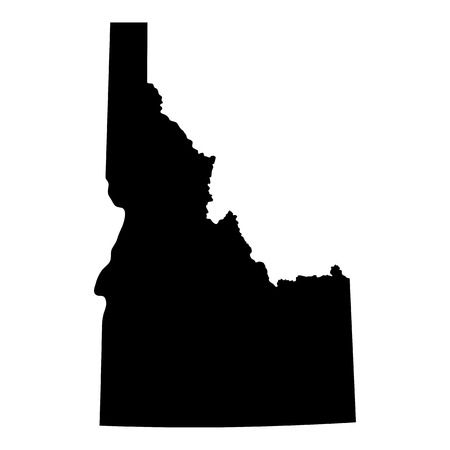 map of the U.S. state of Idaho Иллюстрация