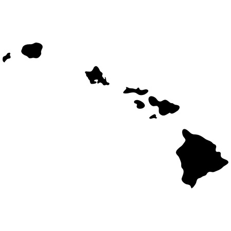 travel map: map of the U.S. state of Hawaii