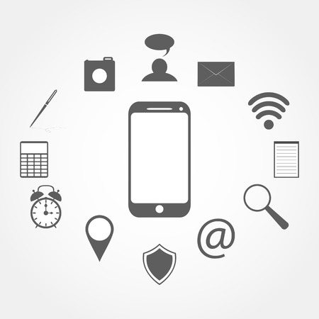 mobile phone and Icons