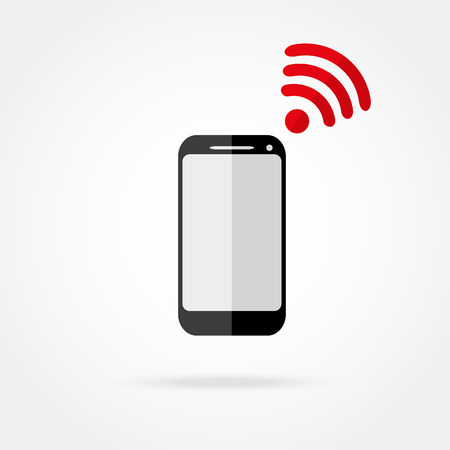 wi fi icon: mobile phone with Wi fi icon Illustration