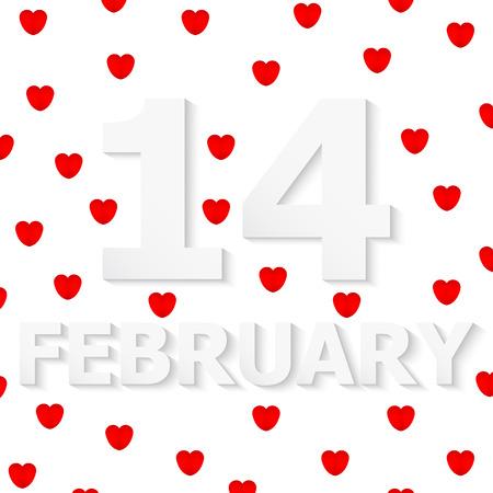 14: D�a 14 de febrero de San Valent�n Vectores
