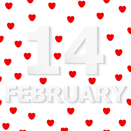 FEBRUARY 14 Valentines Day Vector