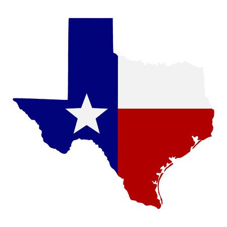 Mappa dello stato americano del Texas Archivio Fotografico - 36367598