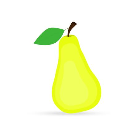 healthier: pear on a white background