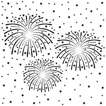 festivities: fireworks Illustration