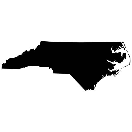 federated: map of the U.S. state of North Carolina