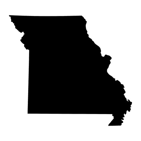 map of the U.S. state of Missouri Ilustrace