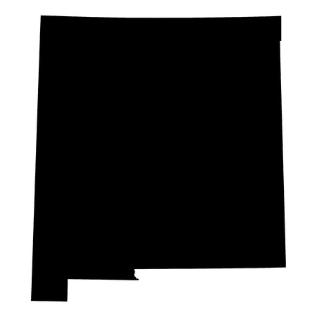 map of the U.S. state of New Mexico Vector
