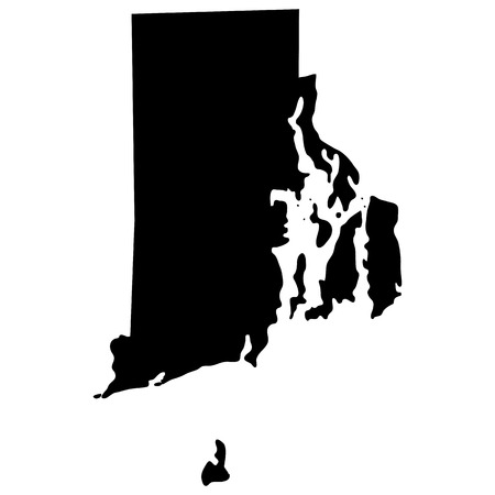 island state: map of the U.S. state of Rhode Island Illustration