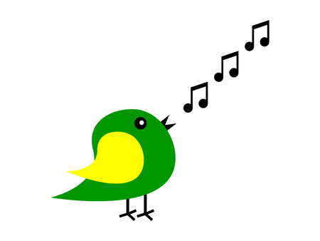 tweets: cartoon bird sings