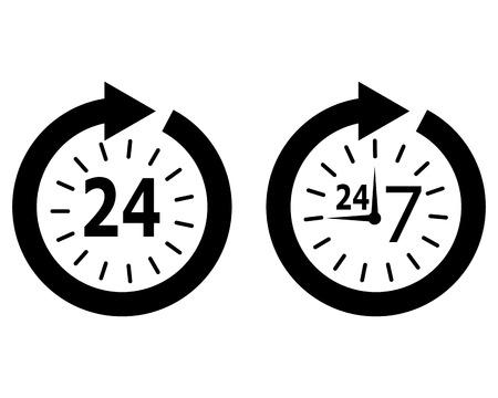 reloj: horario de apertura Vectores