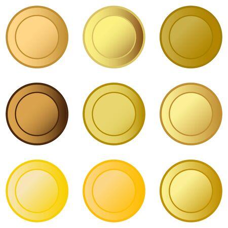 medals: set medals Illustration