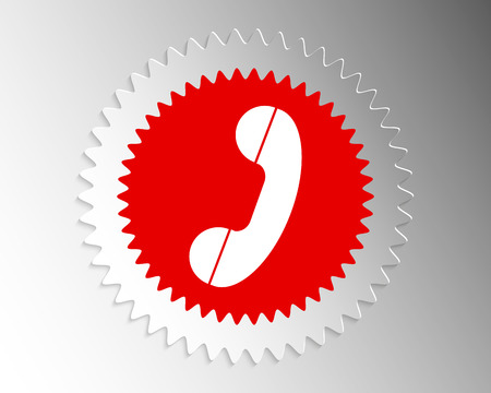 paper banner: Handset icon in paper banner index
