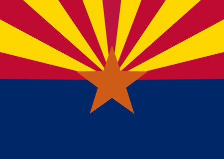 united states flags: flag of the US state of Arizona