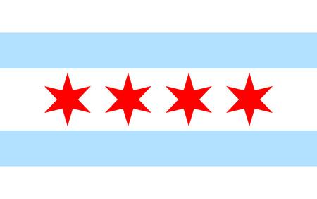 bandera estados unidos: Bandera de Chicago