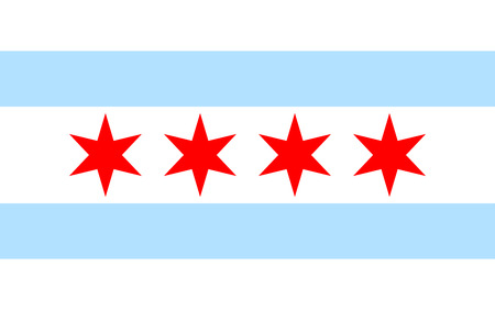 american flags: Chicago flag