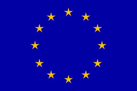 EU flag in closeup Ilustração