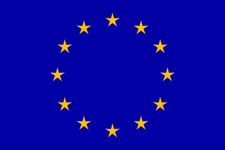 EU flag in closeup Illustration