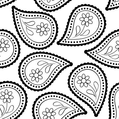 persian art: seamless paisley wallpaper Asian style