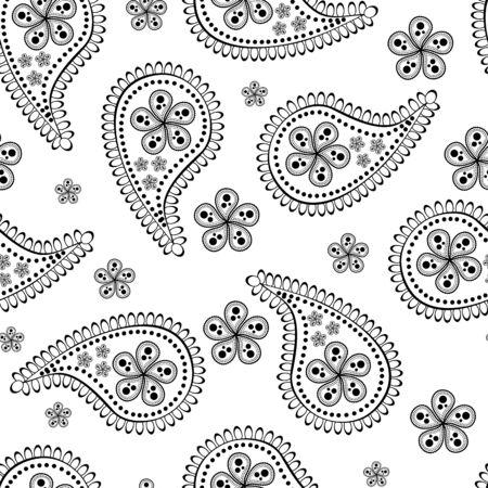 persian art: seamless paisley wallpaper