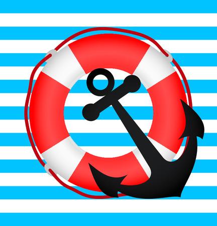 lifebuoy and anchor
