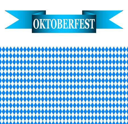 bavarian: blue ribbon with the words Oktoberfest and the Bavarian flag