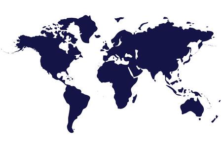 wereld kaart geïsoleerd op witte achtergrond