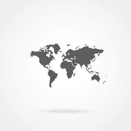 world map icon Illustration