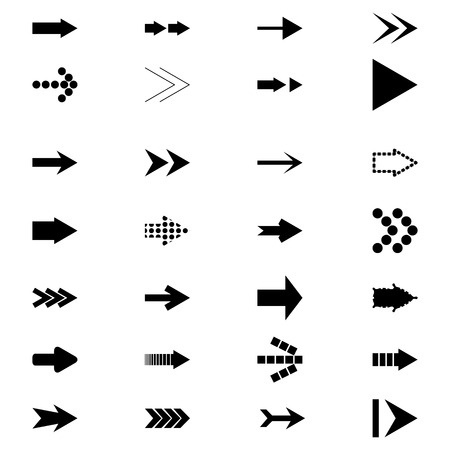 directional arrow: Set icons Arrows
