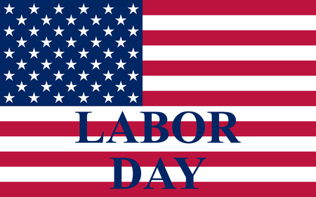 united states flag: Labor Day in the US