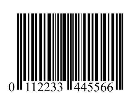 barcode scan: bar code on a white background isolated