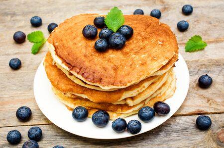 pancakes with fresh wild berry