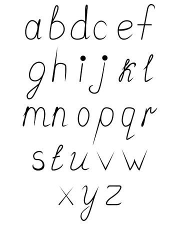 uppercase: Handwritten uppercase alphabet
