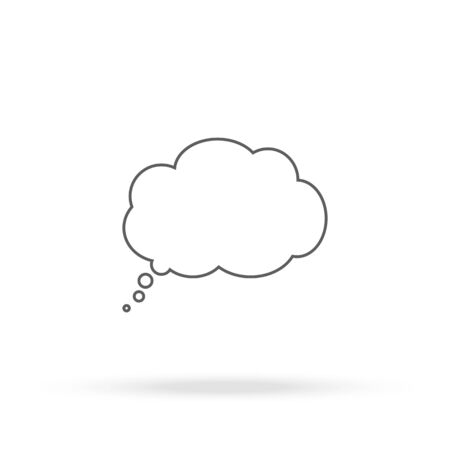 Cloud thoughts icon Illustration