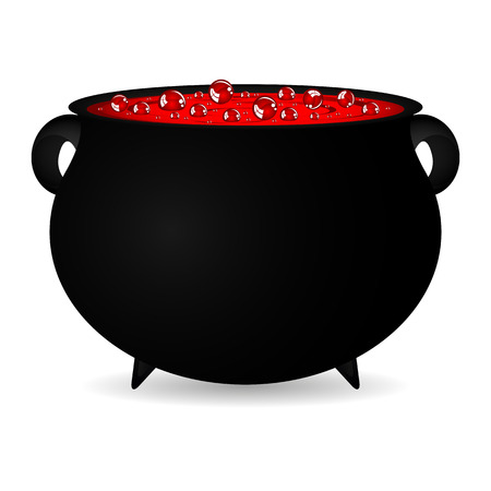 potion: cauldron witches potion for Halloween Illustration