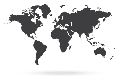 world icon: world map gray