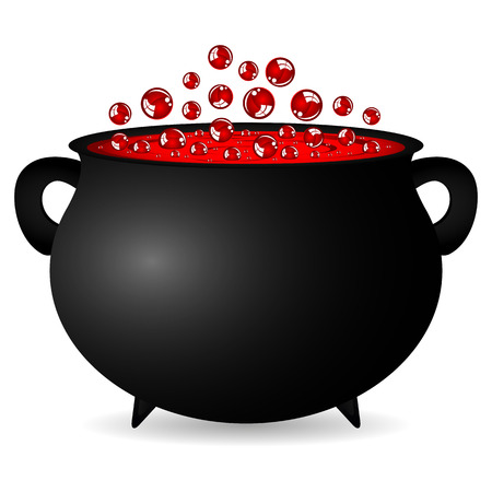 potion: cauldron witches potion for Halloween Illustration