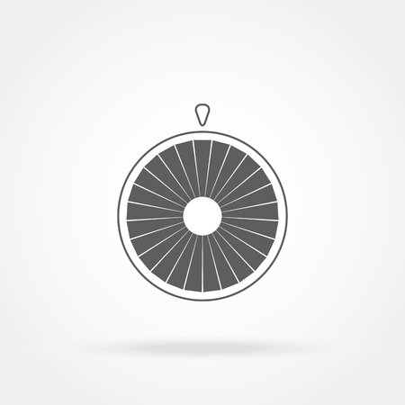 turn table: Wheel of fortune icon Illustration