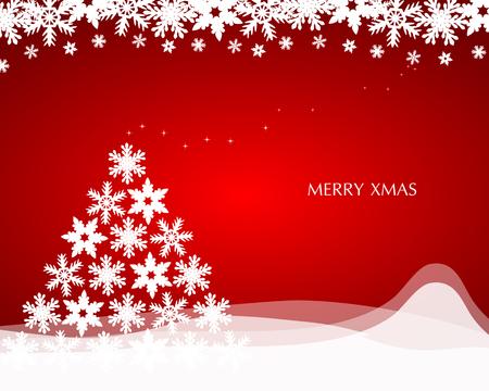 estrellas de navidad: Fondo de Navidad con el �rbol de Navidad de los copos de nieve