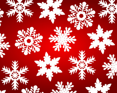 Red christmas background with snowflakes Stock fotó - 46717887