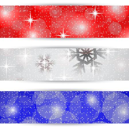 Christmas bookmarks on white background Иллюстрация