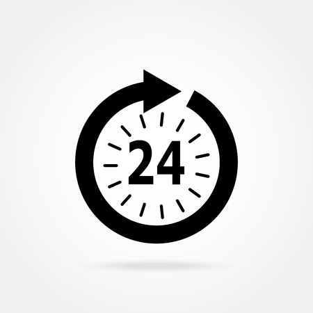 hours: opening hours icon Illustration